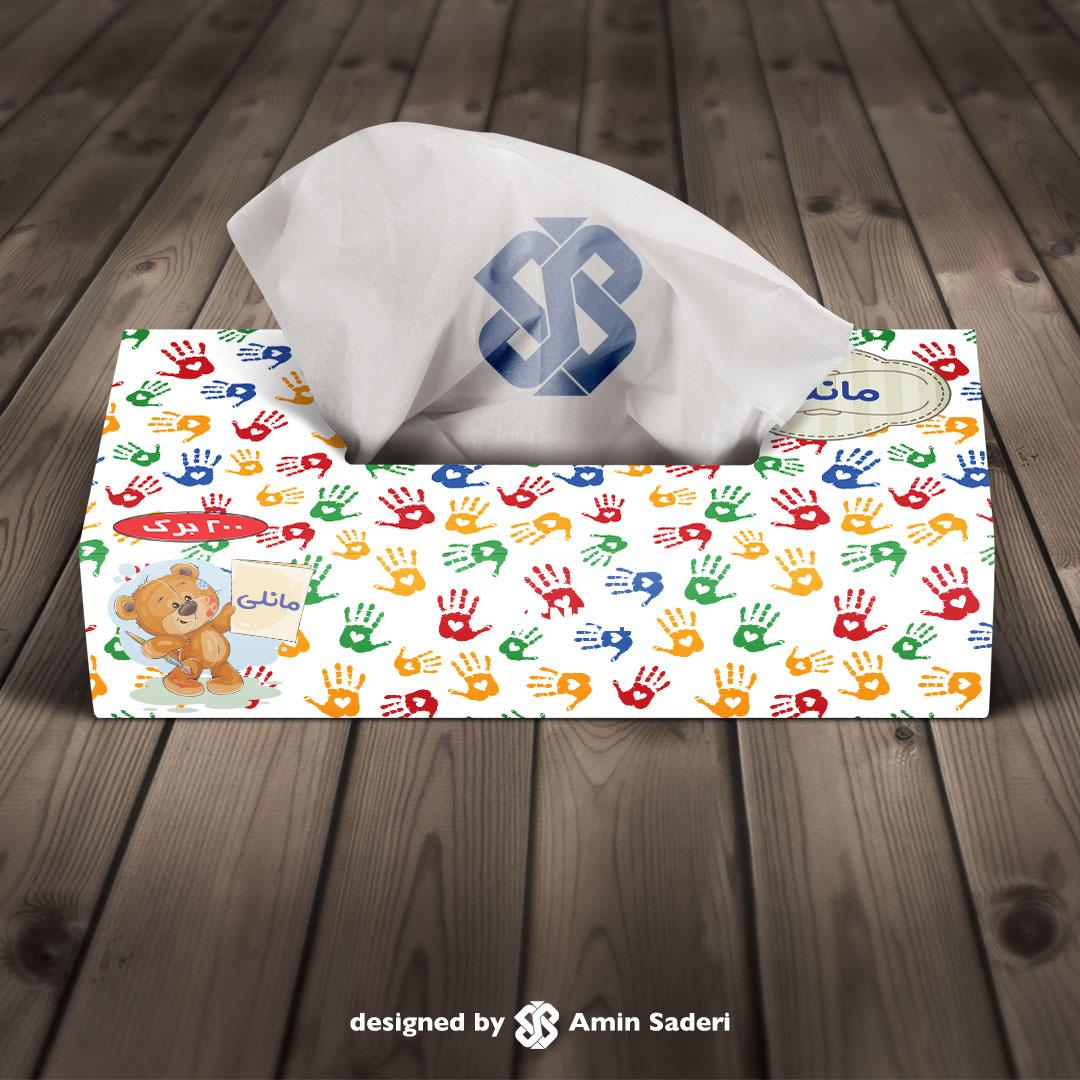 جعبه دستمال کاغذی مانلی