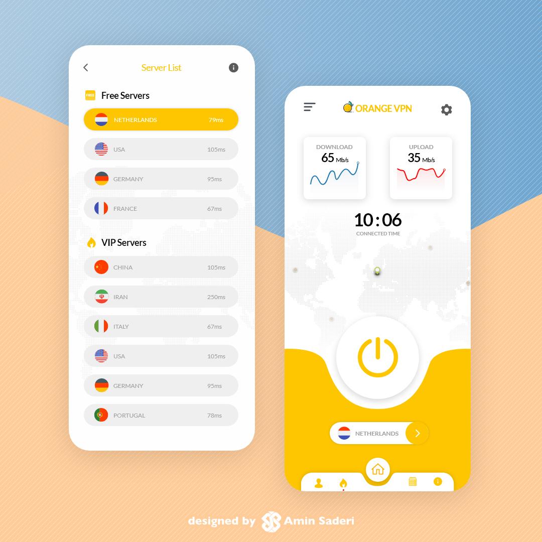 رابط کاربری اپلیکیشن موبایل